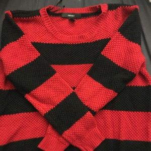 Forever 21 Black and Red Sweater